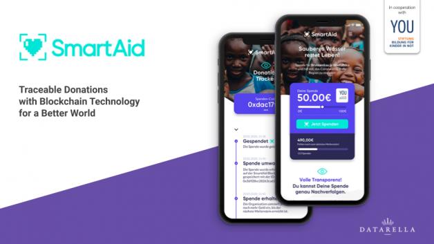 YOU Stiftung und Datarella bringen die erste Blockchain-basierte Spenden-App auf den Markt
